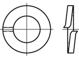 UNC/UNF ähnlich DIN 127 Federringe Stahl galvanisch verzinkt