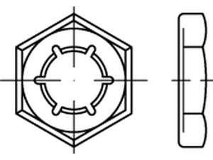 DIN 7967 Palmuttern - Sicherungsmuttern Edelstahl 1.4310
