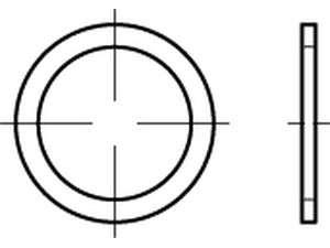 DIN 7603 Dichtringe für Rohrverschraubungen Form A Kupfer