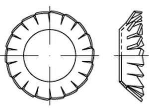 DIN 6798 Fächerscheibe verzinkt V