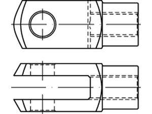 DIN 71752 Gabelkopf Stahl galvanisch verzinkt