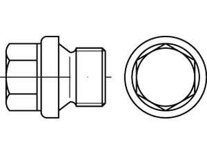 DIN 910 Verschlussschrauben mit Bund und Außensechskant Stahl 5.8
