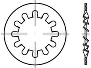 DIN 6797 Zahnscheiben innenverzahnt Edelstahl A2