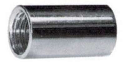 Verbindungsmuffen rund mit durchgehendem Innengewinde verzinkt
